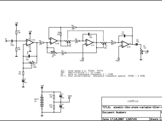 Alembic-like State-Variable-Filter schematic