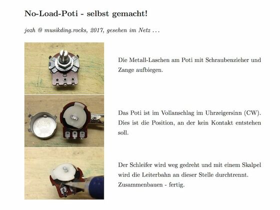 No-Load-Poti - selbst gemacht!