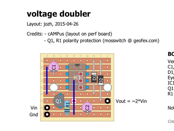 voltage doubler (vero board)