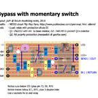 Bypass mit Fusstaster, FlipFlop und Relais
